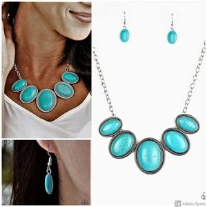 Noble Nomad - Turquoise Necklace and earrings